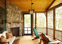 Pine Ceiling Boards by 3 Season Porch Porch Rustic With Flush Hearth Pine Ceiling Boards