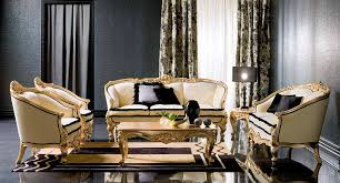 Black And Gold Living Room Furniture Classic Style Black And Gold Living Room Furniture Designs Ideas