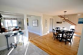 Cottage Open Floor Plan Sopo Cottage Dining Room And Foyer Before And After Knotty Pine