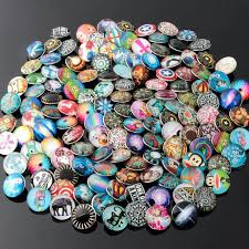 50pcs lot mix 50 pattern ginger snaps round glass snaps bracelets