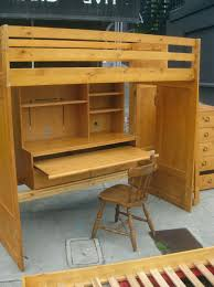 Bunk Bed With Desk And Trundle Bedding Awesome Wooden Bunk Beds With Desk Desk Design Desk