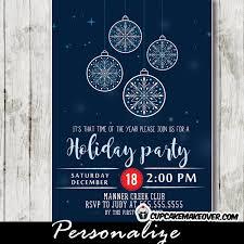 corporate invitations snowflake ornaments bokeh