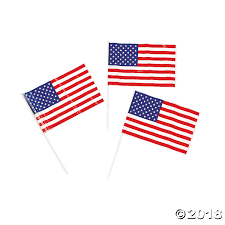 Miniature Flags Small Plastic American Flags