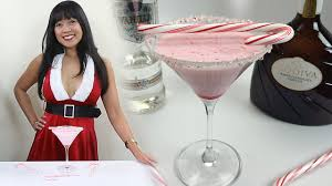 candy cane martini the real candy cane cocktail tipsy bartender youtube