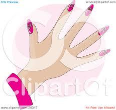 art nail design clipart
