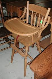 Amish Chair Solid Oak Traditional Flip Top High Chair By Clayborne U0027s Amish