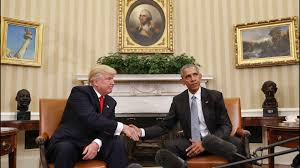 Oval Office Trump by President Elect Donald Trump Meets With President Obama At The