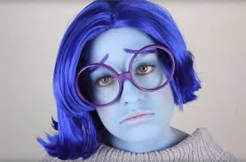 inside out diy sadness costume u0026 makeup for halloween halloween