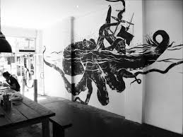 Sharpie Wall Mural Octopus Wall Sea Creatures Pinterest Walls And Kraken