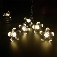 solar interior lights 7m 50leds sakura flower solar lights string fairy led garden