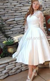 tea length wedding dress plus size pluslook eu collection