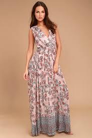fancy maxi dresses lovely blush pink dress floral print dress maxi dress gown