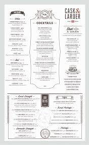 menus cask u0026 lardercask u0026 larder