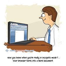 incognito web browser comics jokes and cartoons