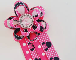 Mom To Be Corsage Nautical Baby Shower Corsage Pink And Navy Mommy To Be