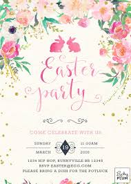 baby brunch invitations easter invitation easter brunch invite flower invite bunny