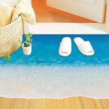 floor decorations home creative sea beach floor stickers diy 3d ground decal for bathroom