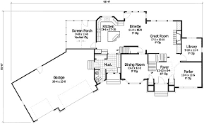 garage house floor plans roomy craftsman with angled garage hwbdo76998 craftsman from