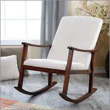 Nursery Rocking Chair by Furniture Dark Wood Rocking Chair For Nursery With White Cushions