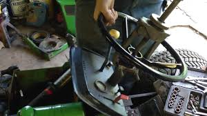 john deere 214 steering wheel removal youtube