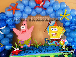 party decorations miami spongebob