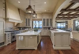 kitchen island farmhouse mediterranean kitchen with farmhouse sink flat panel cabinets in