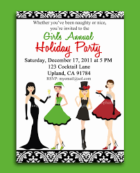 christmas cocktail party printable or printed with free