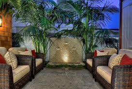 outdoor wall fountains patio tropical with copper gutters
