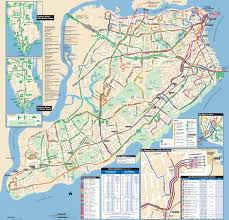 New York City New York Map by Large Detailed Staten Island Bus Map Nyc New York City Staten