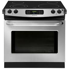 Home Depot Electric Cooktop Frigidaire 5 4 Cu Ft Electric Range With Self Cleaning Quickbake