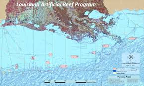 Eugene Zip Code Map by Artificial Reef Program La Fisheries Forward