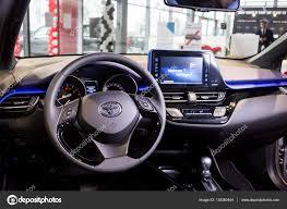 toyota car showroom vinnitsa ukraine december 16 2016 toyota c hr concept car inside