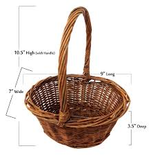 Amazon Com Oval Shaped Small Willow Handwoven Easter Basket By
