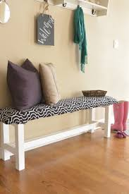 Upholstered Bench Ikea Turning A Regular Ikea Bench Into An Upholstered Bench The