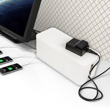 desk power outlet portable cable management box organizer different size for desk