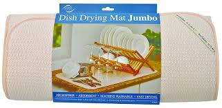 amazon com envision home microfiber dish drying mat jumbo 18 by
