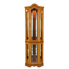 Corner Glass Display Cabinet Ebay Lighted Curio Cabinet Ebay