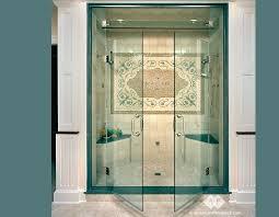 double shower doors glass