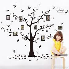 new wall stickers decals trees photo frame butterfly birds and reuse without leaving damage residue non toxic environmental protection well designed pattern for home improvement large decorative sticker size