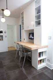 Reusing Corks Home Office Contemporary With Ceiling Light Tiled - Kitchen cabinets for home office