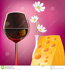 cartoon wine and cheese wine cheese and margaretas stock vector image of abundance 17860538