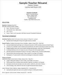 Resume Templates For Teachers Free Teacher Resume Sample 28 Free Word Pdf Documents Download