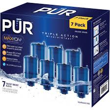 Pur Vs Brita Faucet Water Filter Pur Mineralclear 7 Piece Replacement Water Filter With Maxion