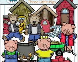 pigs clipart big bad wolf clip art