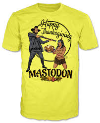 thanksgiving t shirts mastodon s genocide depicting thanksgiving t shirts spark an