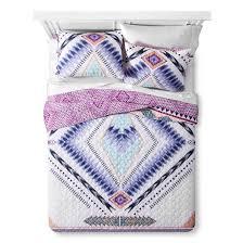 Tribal Pattern Comforter Purple Nostalgika Tribal Reversible Quilt Set Target