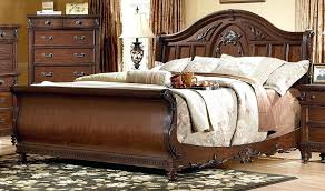 Cherry Wood Sleigh Bed T4taharihome Page 69 Base Bed Frame Sleigh Bed Frame King King