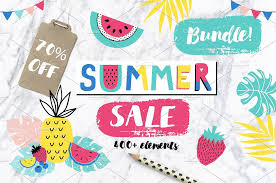 summer sale summer sale bundle 70 objects creative market