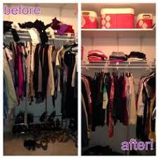 closet before and after the neat life pinterest organizing
