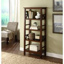 linon home decor titian antique tobacco open bookcase 86150atob 01